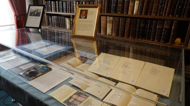 Literary Magdalene Exhibition John Mole.JPG